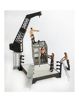 wwe-5-piece-bundle-wwe-crash-cage-plus-4-diff-figures