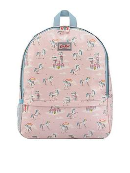 cath-kidston-kids-padded-unicorns-and-rainbows-mesh-pocket-padded-rucksack-light-pink
