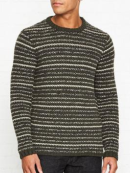 folk-cryptic-knitted-stripe-crew-neck-jumper-green