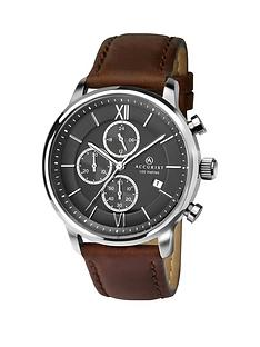 accurist-accurist-black-and-silver-chronograph-dial-brown-leather-strap-mens-watch