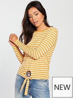 v-by-very-tie-front-long-sleeve-top-stripe