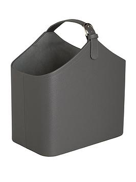 faux-leather-magazine-rack