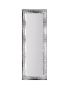 013460bcf418 Large Diamante Effect Full Length Mirror