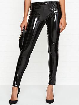 karl-lagerfeld-patent-faux-leather-trousersnbsp-nbspblack