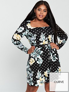 v-by-very-curve-square-neck-jersey-dress-floral-print