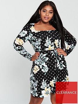 v-by-very-curve-square-neck-jersey-dress-floral-print