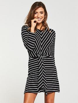 v-by-very-stripe-tie-front-longline-top-printed