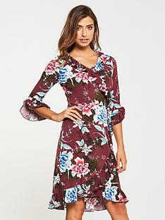v-by-very-wrap-printed-dress