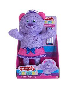 31a50926e83 Scribble Me Friends Bear - Purple