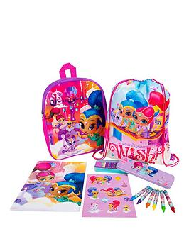 shimmer-and-shine-shimmer-amp-shine-eva-back-pack-shoe-bag-and-bumper-stationery-set