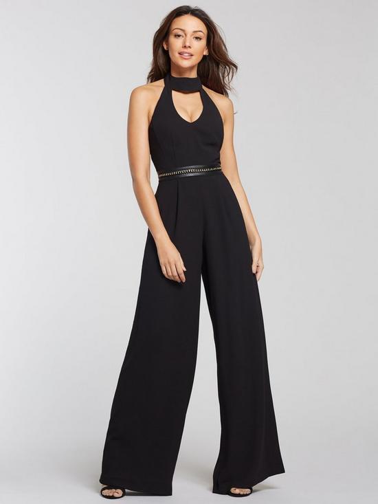 9324df1786 Michelle Keegan Chain Detail Jumpsuit - Black