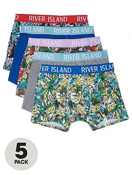 river-island-5pk-banana-print-trunks
