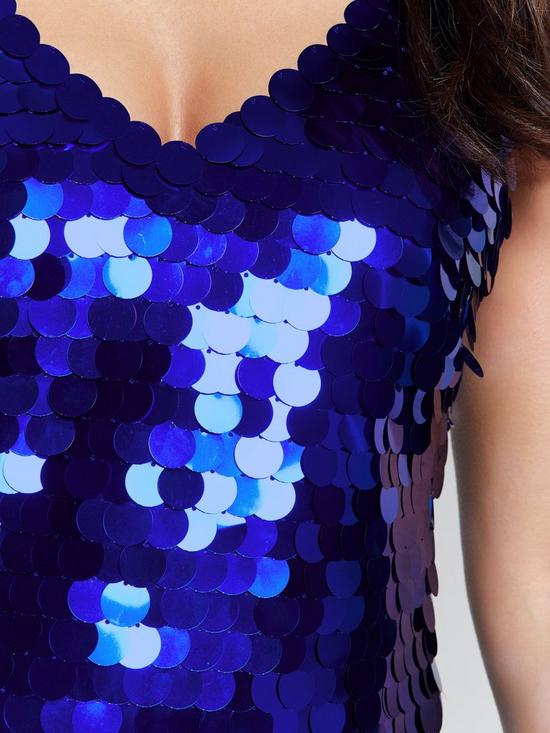 b894a6980dbd7c ... Michelle Keegan Oversized Sequin Cami Top - Blue. View larger