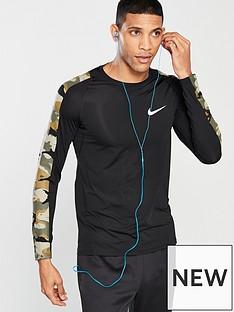 nike-pro-camo-long-sleeve-training-top-black