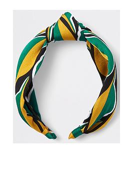 river-island-river-island-leaf-print-wide-alice-band--green
