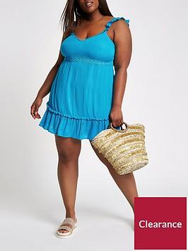 ri-plus-cut-out-bow-back-dress-blue