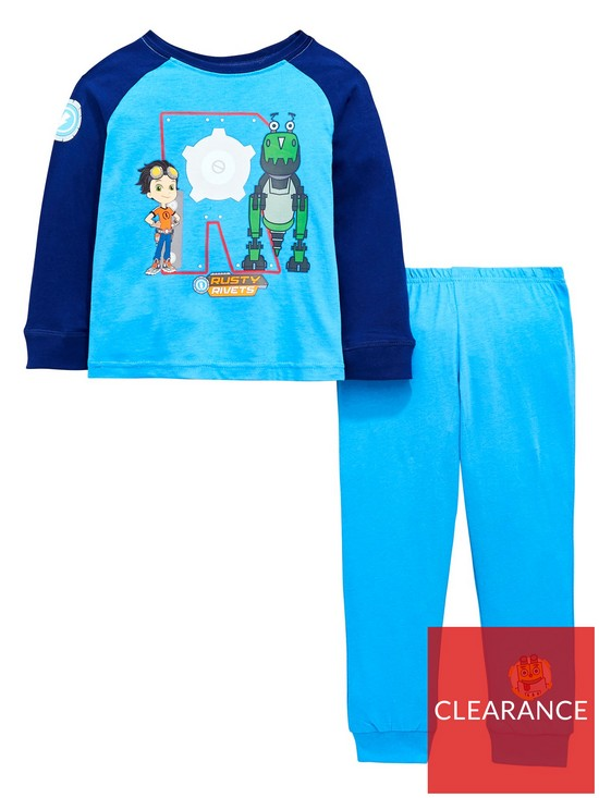 Rusty Rivets Rusty Rivets Boys 2 Piece Jersey and Bottoms Pyjamas Set -  Multi 691f5dd9a