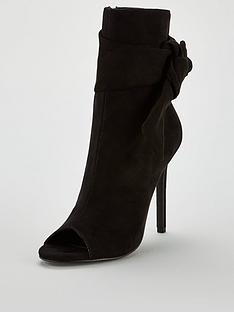 v-by-very-faze-bow-trim-peep-toe-shoe-boot-black