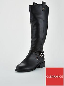 v-by-very-idra-buckle-trim-riding-boot-black