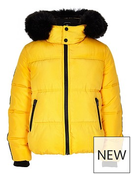 river-island-boys-yellow-faux-fur-hooded-padded-jacket