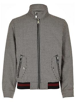 river-island-boys-brown-check-harrington-jacket