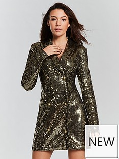michelle-keegan-sequin-tux-dress-goldnbsp