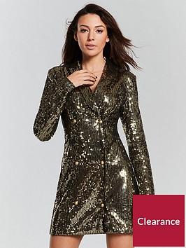 michelle-keegan-sequin-tux-dress-goldnbsp