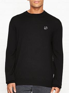 mcq-alexander-mcqueen-logo-detailnbspknitted-crew-neck-jumper-black