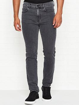 mcq-alexander-mcqueen-mismatched-strummer-skinny-fit-jeans-grey