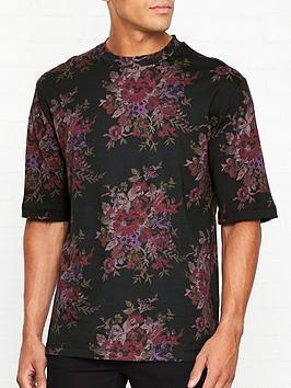 mcq-alexander-mcqueen-floral-print-t-shirt-black