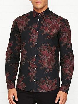 mcq-alexander-mcqueen-floral-print-cotton-shirt-black