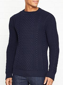 edwin-united-cable-knit-jumper-navy