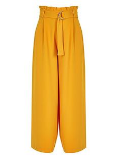 river-island-girls-yellow-paperbag-waist-wide-leg-trousers
