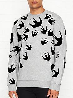 mcq-alexander-mcqueen-swallow-print-sweatshirt-grey