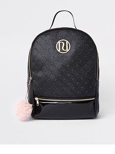 river-island-girls-black-ri-monogram-backpack