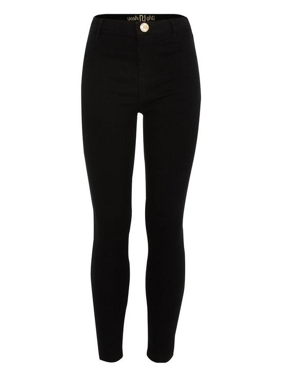 533cd439c736d River Island Girls black Molly mid rise jeggings | very.co.uk