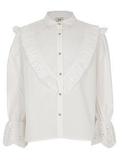 river-island-girls-white-poplin-embroidered-sleeve-shirt