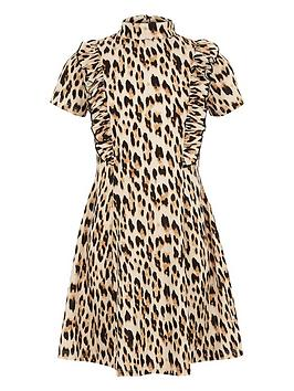 river-island-girls-brown-ruffle-leopard-print-dress