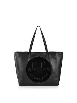 hill-friends-happy-slouchy-tote-bag-black