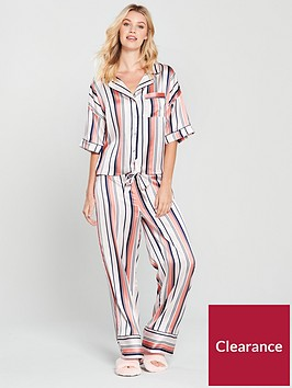 v-by-very-wide-leg-satin-stripe-pyjama-set