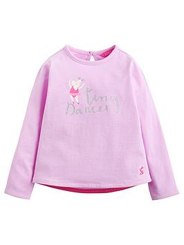 Joules Toddler Girls Bessie Mouse Print T-Shirt thumbnail