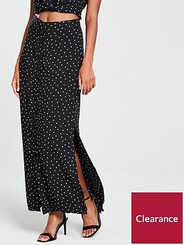 warehouse-spot-print-skirt