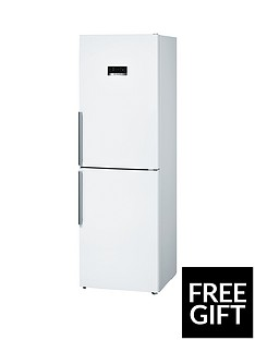Bosch Serie 4 KGN34XW35G 60cm Frost Free Fridge Freezer - White