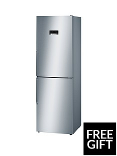 Bosch Serie 4 KGN34XL35G 60cm Frost Free Fridge Freezer - Stainless Steel Effect