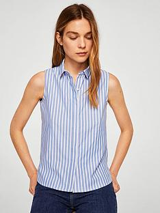 mango-stripe-sleeveless-shirt-medium-blue