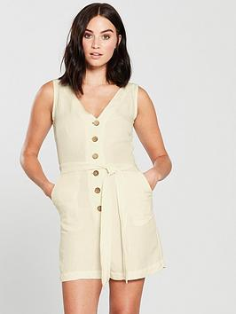 mango-button-front-playsuit-natural