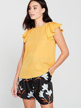 mango-tie-back-blouse-yellow
