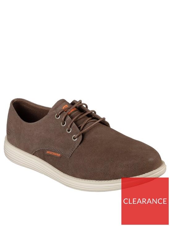 c6bb2032cecb Skechers Mens Status Versen Shoe - Brown