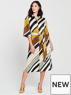 mango-amandi-stripe-shirt-midi-dress