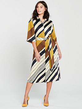 mango-amandi-stripe-shirt-midi-dress